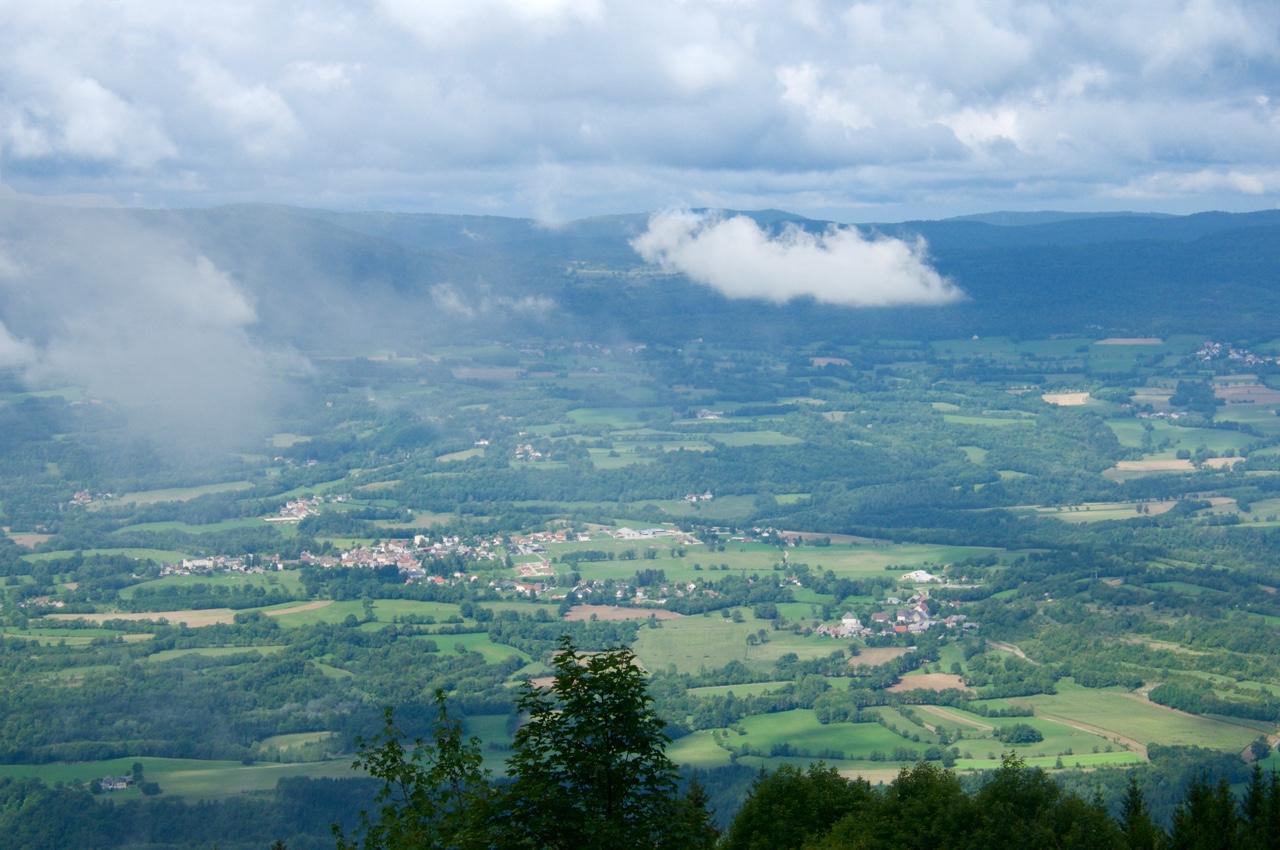 Vergezicht tijdens afdaling Colombier